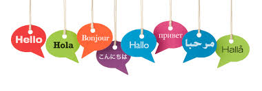 different languages speech bubbles